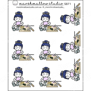 DEBBIE DOWNER - MEAL PREP TIME - PLANNER STICKERS - S871 - Marshmallow Studio