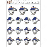 DEBBIE DOWNER WEATHER - RAINY DAY - PLANNER STICKERS - S388 - Marshmallow Studio