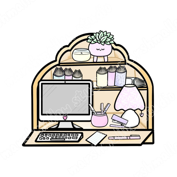 DIGITAL DOWNLOAD - PLANNER DESK - Marshmallow Studio