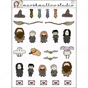 DOODLE POTTER PLANNER STICKERS S257 - Marshmallow Studio
