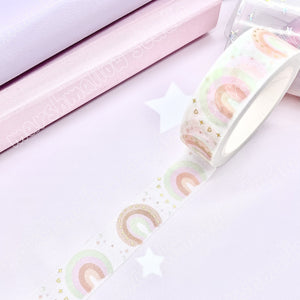 DREAMY RAINBOW - SUNSET SKIES - FOILED WASHI TAPE - LIMITED EDITION - Marshmallow Studio