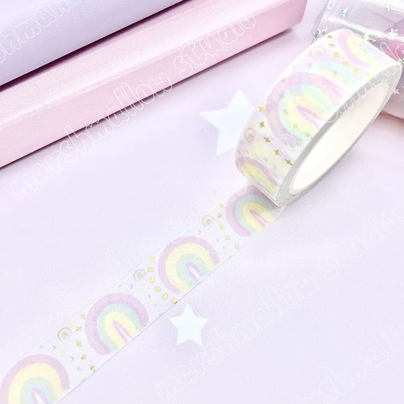 DREAMY RAINBOW - SWEET MEDLEY - FOILED WASHI TAPE - LIMITED EDITION - Marshmallow Studio