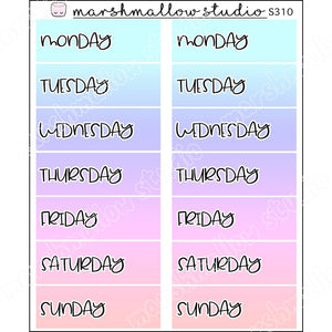 EC DATE COVERS - DUSKY SKY - PLANNER STICKERS - S310 - Marshmallow Studio