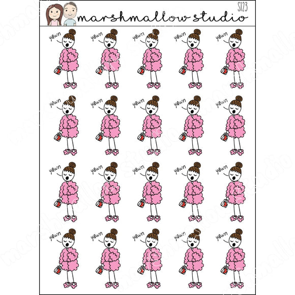 FLOSSIE MORNING PLANNER STICKERS S123 - Marshmallow Studio