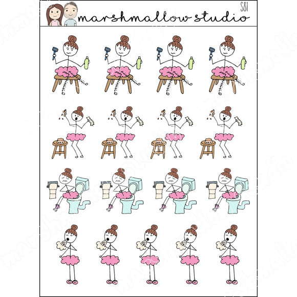 FLOSSIE PROBLEMS PLANNER STICKERS S81 - Marshmallow Studio