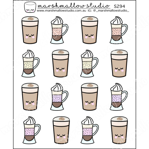 FROTHY FRAPPES - PLANNER STICKERS - S294 - Marshmallow Studio