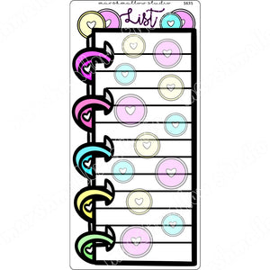 FULL PAGE STICKER - LIST - HOBONICHI - PLANNER STICKERS - S635 - Marshmallow Studio