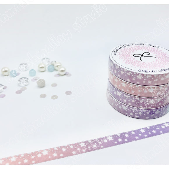 GLITTER CONSTELLATION - EXCLUSIVE WASHI TAPE (PURPLE PINK) - Marshmallow Studio