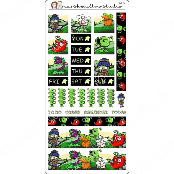 HOBONICHI KIT - DEBBIE VS. PLANTS - PLANNER STICKERS - S617 - Marshmallow Studio