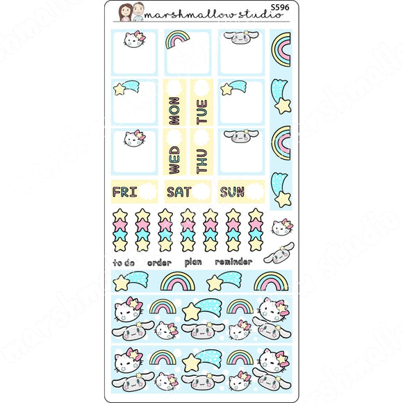 HOBONICHI KIT - HELLO KAWAII - PLANNER STICKERS - S596 - Marshmallow Studio
