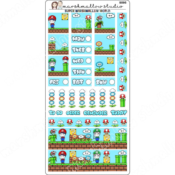 HOBONICHI KIT - SUPER MARSHMALLOW - PLANNER STICKERS - S595 - Marshmallow Studio