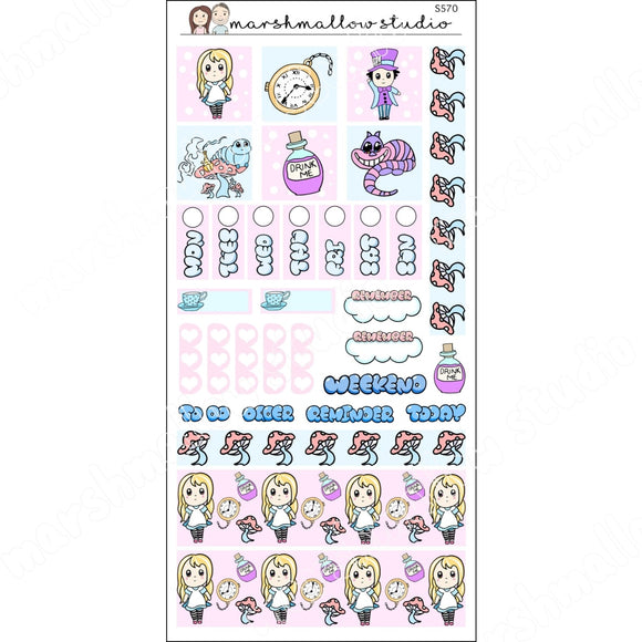 HOBONICHI KIT - WONDERLAND - PLANNER STICKERS S570 - Marshmallow Studio