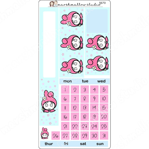 HOBONICHI MONTHLY KIT - MY SHEILA - PLANNER STICKERS S670 - Marshmallow Studio