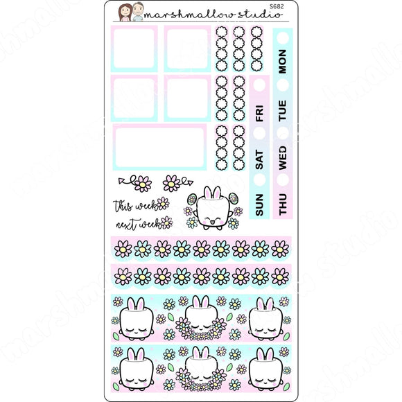 HOBONICHI WEEKS - COCOA BUNNY - PLANNER STICKERS S682 - Marshmallow Studio