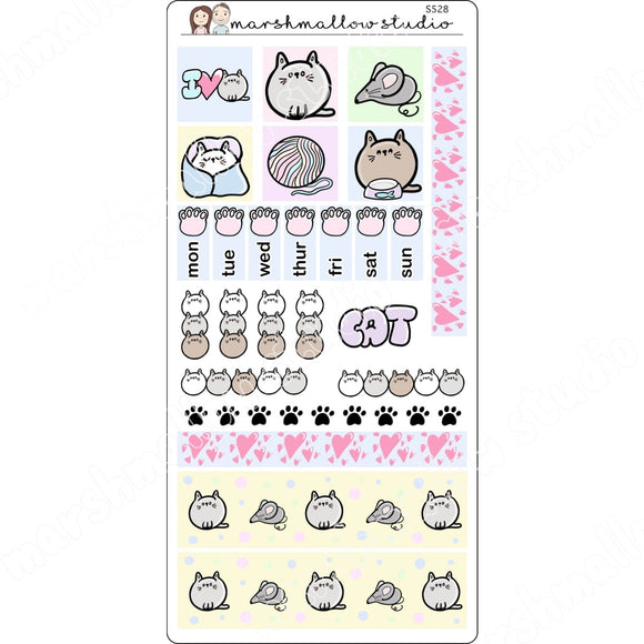 HOBONICHI WEEKS KIT - CAT - PLANNER STICKERS S528 - Marshmallow Studio