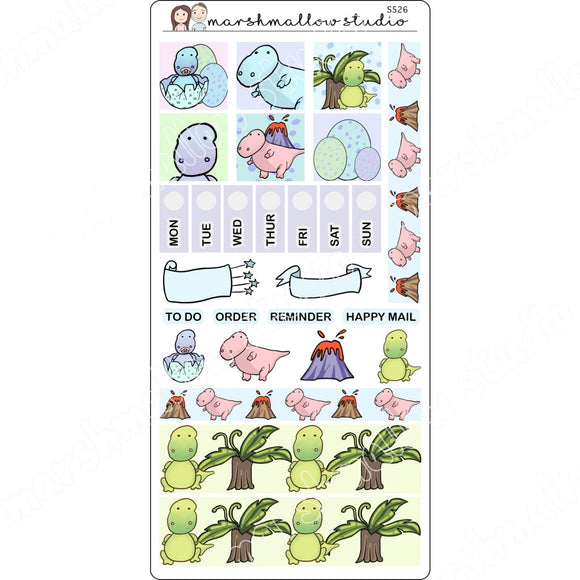 HOBONICHI WEEKS KIT - DINOSAUR - PLANNER STICKERS S526 - Marshmallow Studio