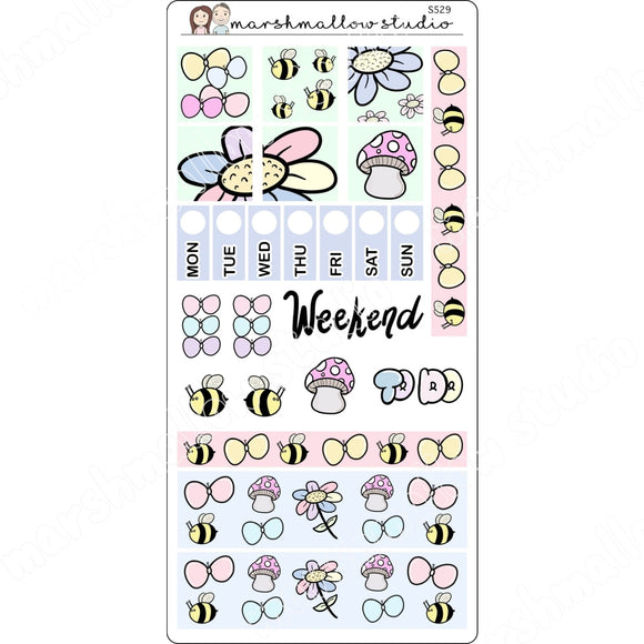 HOBONICHI WEEKS KIT - GARDEN - PLANNER STICKERS S529 - Marshmallow Studio