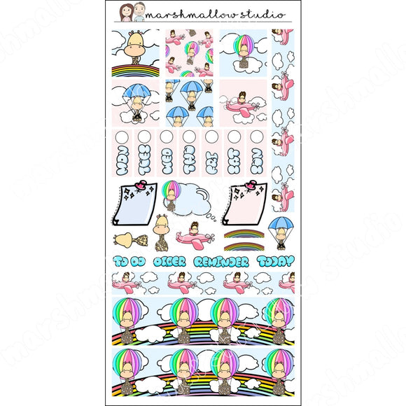 HOBONICHI WEEKS KIT - GIRAFFE - PLANNER STICKERS S537 - Marshmallow Studio