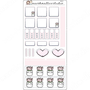 HOBONICHI WEEKS KIT - LASH PLANT - PLANNER STICKERS S551 - Marshmallow Studio