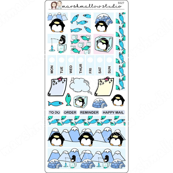 HOBONICHI WEEKS KIT - PENGUIN - PLANNER STICKERS S527 - Marshmallow Studio