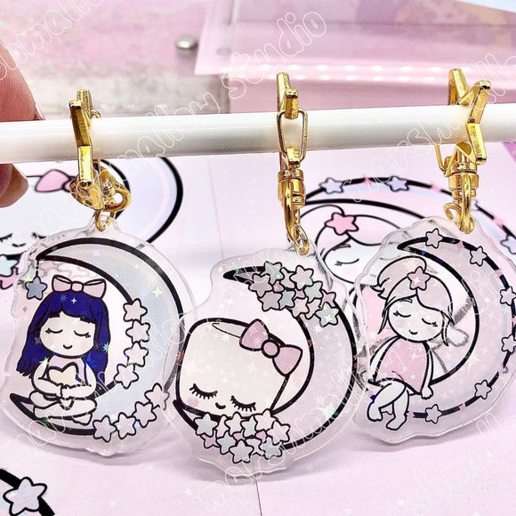 KEYCHAIN BUNDLE - DEBBIE BLUE MOON / SHEILA HARVEST MOON / COCOA SUPERMOON - LIMITED EDITION - Marshmallow Studio