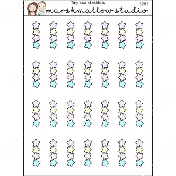 LITTLE STAR CHECKLISTS - PLANNER STICKERS - S287 - Marshmallow Studio