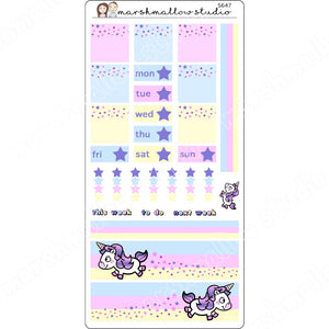 LITTLE UNICORNY - HOBONICHI WEEKS - PP WEEKS - S647 - Marshmallow Studio
