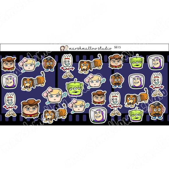 MARSHMALLOW STORY - SPECIAL DECO SHEET - PLANNER STICKERS - S615 - Marshmallow Studio