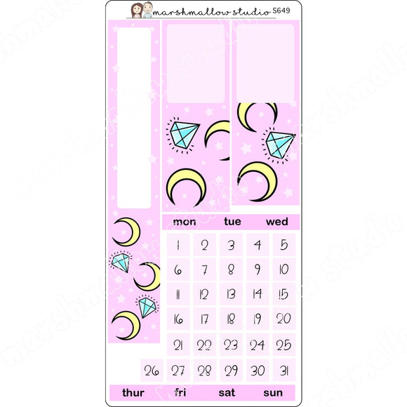 MOON - MONTHLY KIT HOBONICHI WEEKS - PP WEEKS - S649 - Marshmallow Studio
