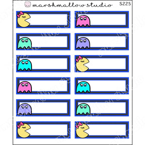 PACPLAN QUARTER BOXES - PLANNER STICKERS - S225 - Marshmallow Studio