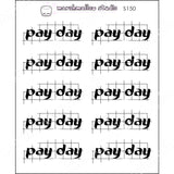 PAYDAY GRID SCRIPT - BASICS - PLANNER STICKERS - S150 - Marshmallow Studio