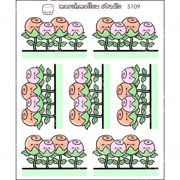 Rosey Borders - Planner Stickers S109 New Releases