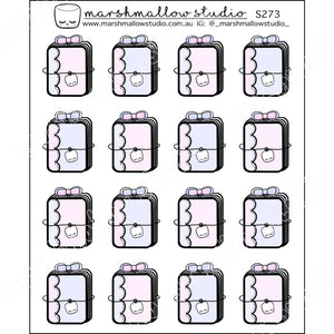 SCALLOP PLANNER BOOK - PLANNER STICKERS - S273 - Marshmallow Studio