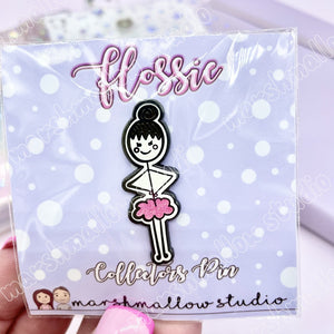 *SECONDS* - FLOSSIE ENAMLE PIN - LAST CHANCE! - Marshmallow Studio