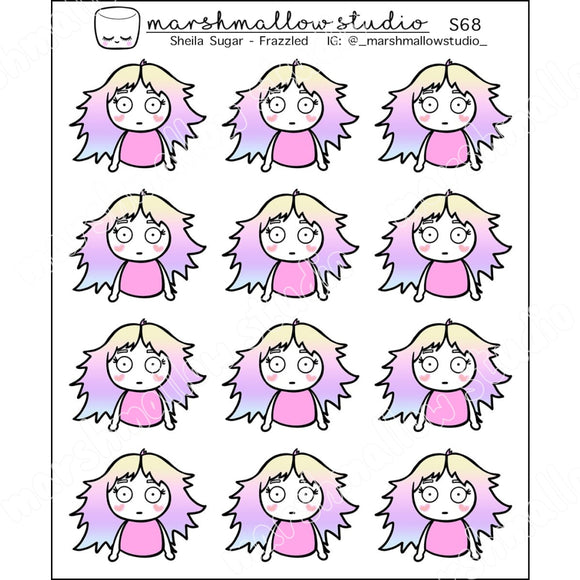 SHEILA SUGAR - FRAZZLED - PLANNER STICKERS - S68 - Marshmallow Studio