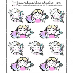 SHEILA SUGAR - HAIR CARE - PLANNER STICKERS - S93 - Marshmallow Studio