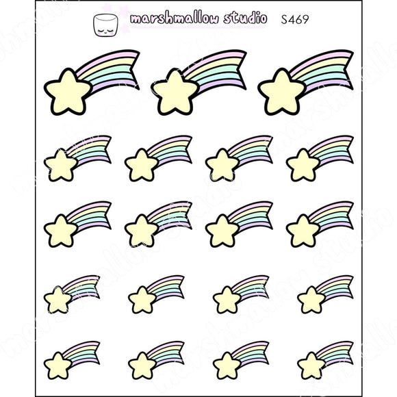 SHOOTING STARS - PLANNER STICKERS - S469 - Marshmallow Studio