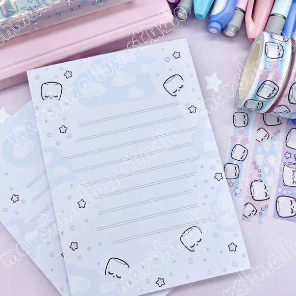 *SLIGHTLY IMPERFECT - COCOA CLOUD - A6 NOTEPAD - LIMITED EDITION - Marshmallow Studio
