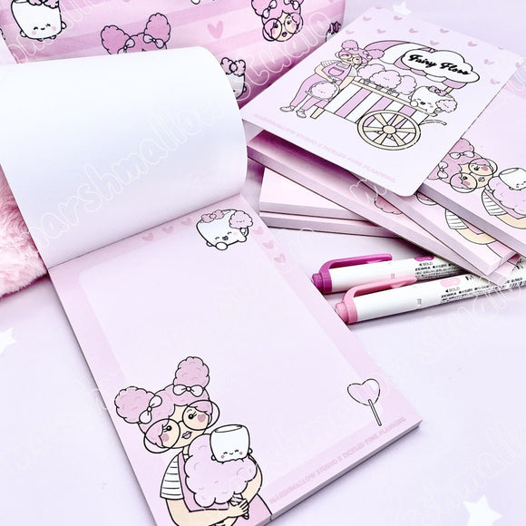 SLIGHTLY IMPERFECT NOTEPAD ~ FAIRY FLOSS ~ TICKLEDPINKPLANNING COLLAB ~ LIMITED EDITION - Marshmallow Studio