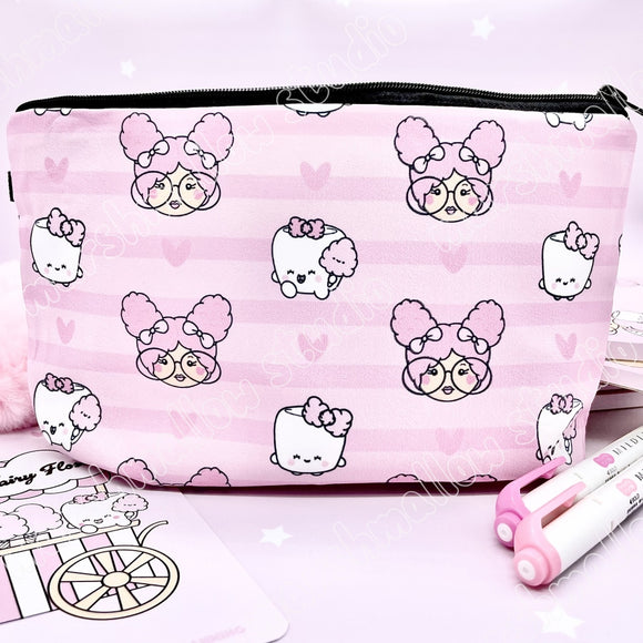 SLIGHTLY IMPERFECT PENCIL CASE ~ FAIRY FLOSS ~ TICKLEDPINKPLANNING COLLAB ~ LIMITED EDITION - Marshmallow Studio