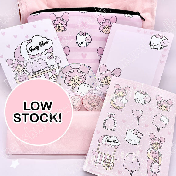THE FAIRY FLOSS BOX ~ TICKLEDPINKPLANNING COLLAB ~ *NO MIRROR & SLIGHTLY IMPERFECT PENCIL CASE - Marshmallow Studio