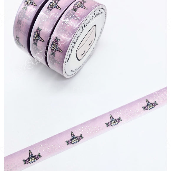 UNICORN CROWN - 10mm FOILED WASHI TAPE - **LIMITED EDITION** - Marshmallow Studio
