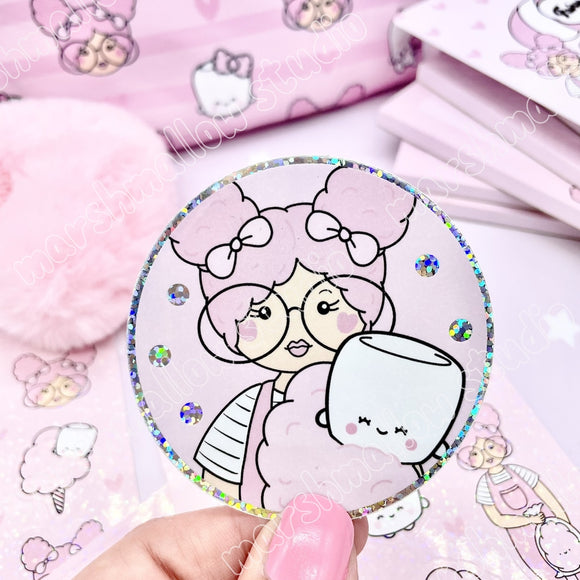 VINYL STICKER ~ FAIRY FLOSS ~ TICKLEDPINKPLANNING COLLAB ~ LIMITED EDITION - Marshmallow Studio