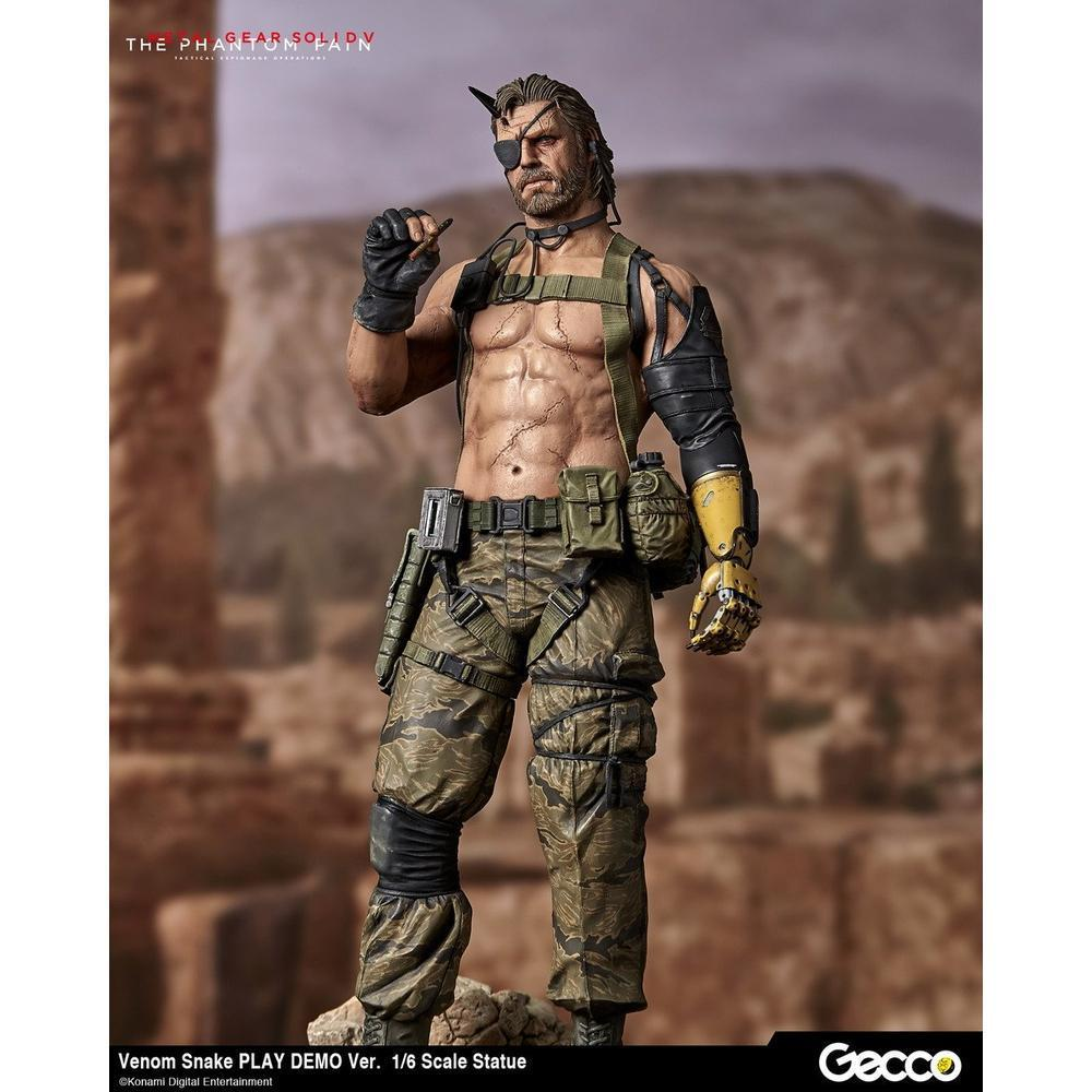 Gecco METAL GEAR SOLID V: THE PHANTOM PAIN, VENOM SNAKE PLAY DEMO VER. 1/6 SCALE (Pre-Order)-Fumble Pop!