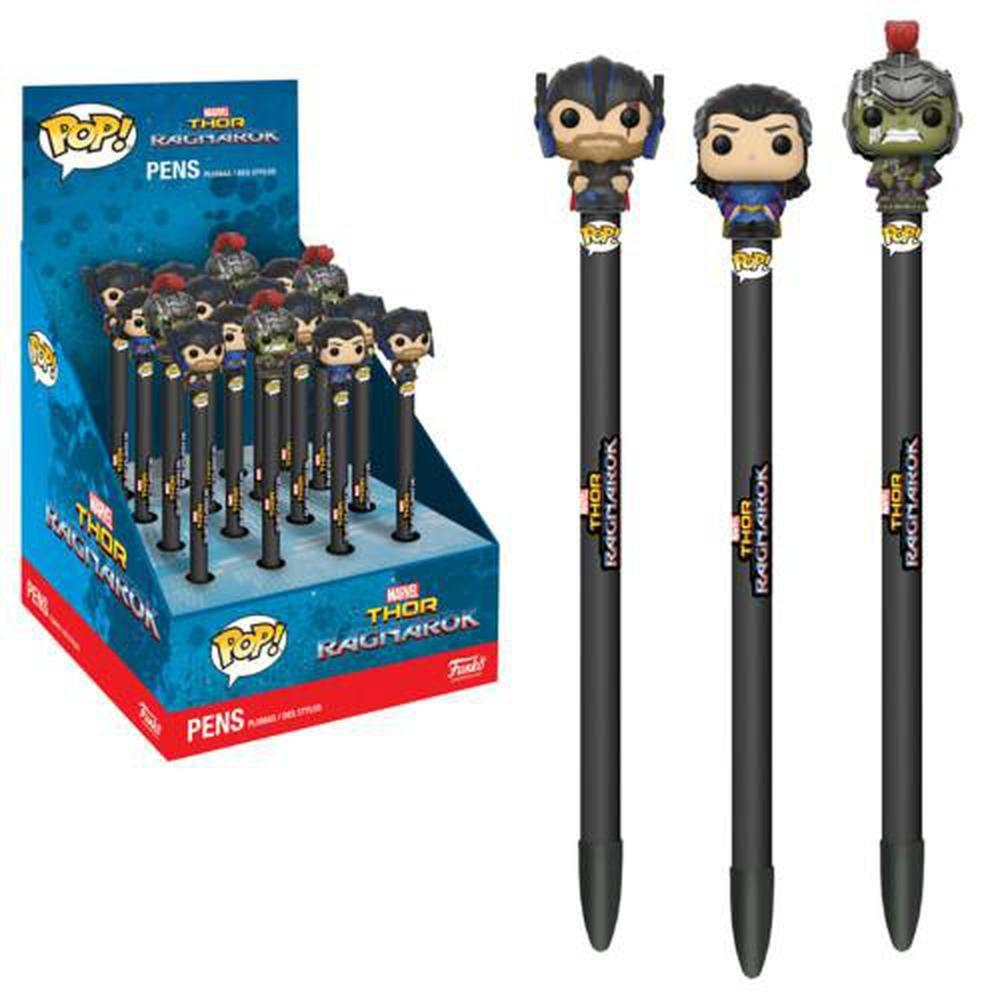 Funko Pop! Asst: Pen Toppers - Thor 16pc PDQ (One Pen Topper Per Purchase)-Fumble Pop!
