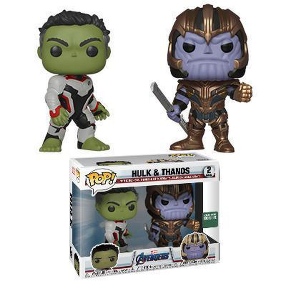 Funko Pop Movie: Avengers Endgame Hulk & Thanos (2-Pack) (Pre-Order)-Fumble Pop!