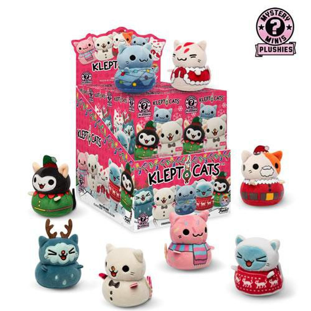 Funko Pop! Mystery Minis Plushies - Kleptocats - Holiday - 12pc Assorted Display-Fumble Pop!