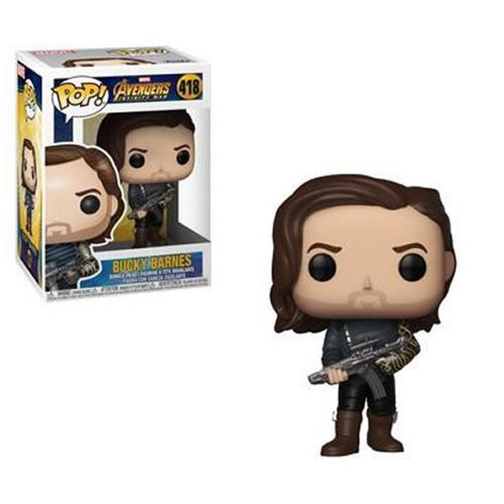 Funko Pop! Movies: Avengers: Infinity War Bucky with Weapon Pop! Vinyl Figure #418-Fumble Pop!