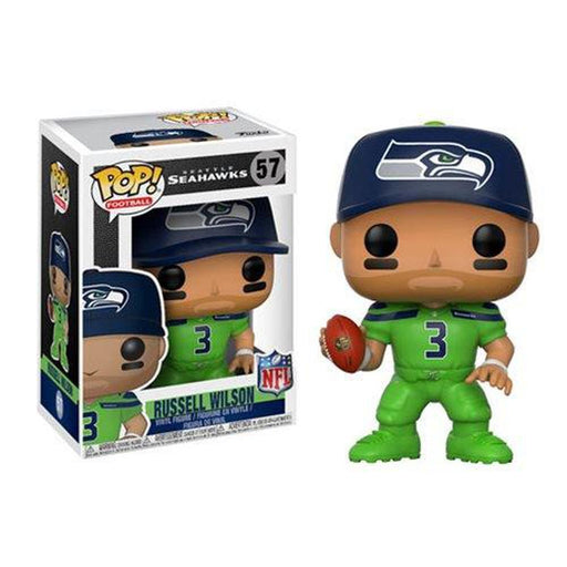 Funko Pop! NFL: Russell Wilson Seahawks Color Rush Wave 4 Pop! Vinyl Figure #57-Fumble Pop!