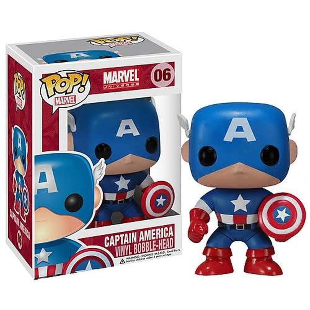 Funko Pop! Movies: Captain America Marvel Pop! Vinyl Bobble Head (Pre-Order)-Fumble Pop!